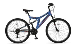 Umit Blackmount 26 inch MTB Black Blue Orange