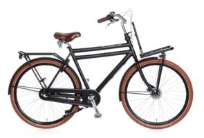 Popal Heren Transportfiets Daily Dutch Prestige N3 RB :: Mat Zwart :: 28 inch / 65 cm
