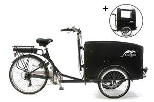Popal Bakfiets Cangoo Tour Elektrisch :: Zwart - Zwart :: 24 inch 8510E Zwart Zwart
