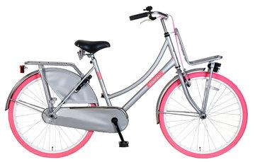 Popal Meisjes Transportfiets Urban Select Grijs roze 26inch