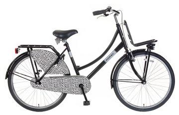 Popal Meisjes Transportfiets Urban Select Luipaard zwart 26inch