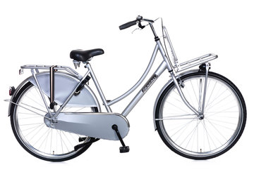 Popal Dames Transportfiets Daily Dutch Basic Zilver 53cm