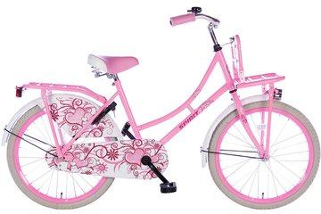 Spirit Meisjes Omafiets Roze 20 inch